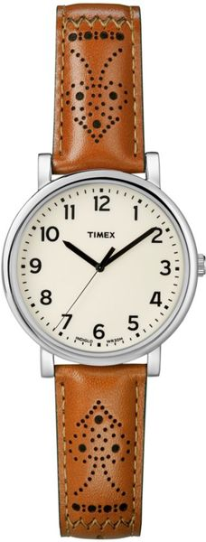 Timex® Originals Camel Leather Strap 42mm in Beige (camel)