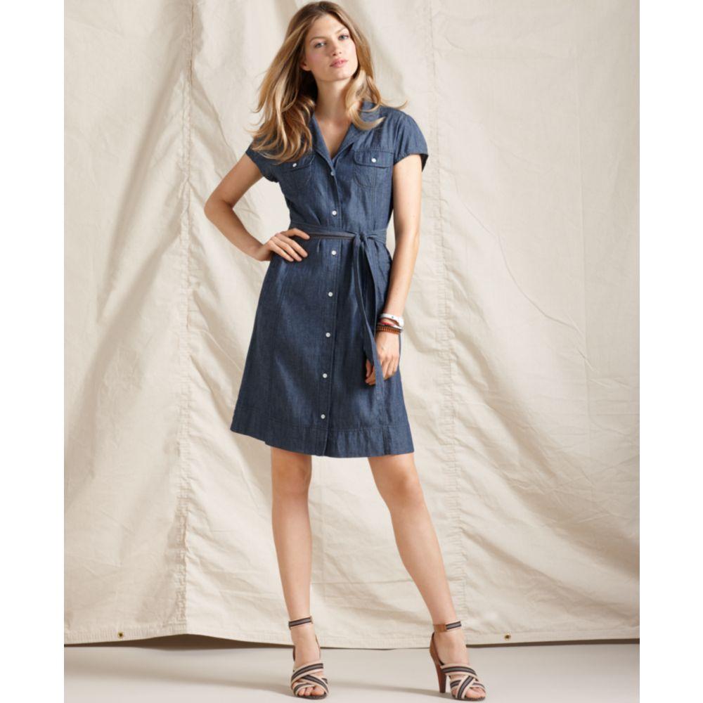 Details For 203e0 0274d Womens Short Sleeve Jean Dress Arooselbahr