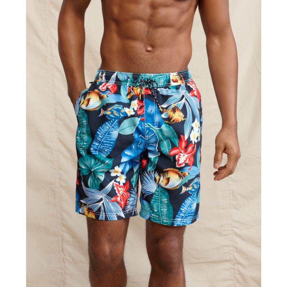 0afc3eeaa3 Tommy Hilfiger Fish Print Swim Shorts in Blue for Men - Lyst
