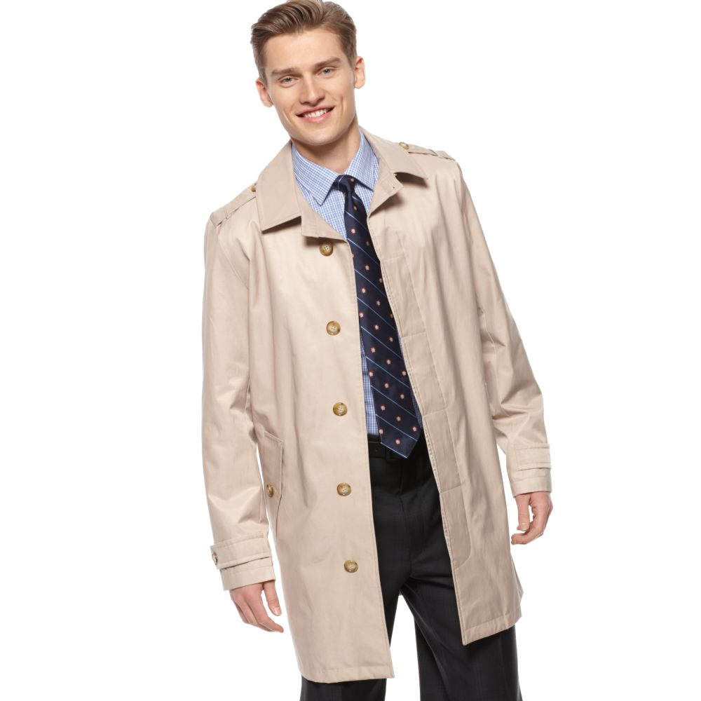 Tommy hilfiger Performance Rain Trench Coat in Natural for Men | Lyst