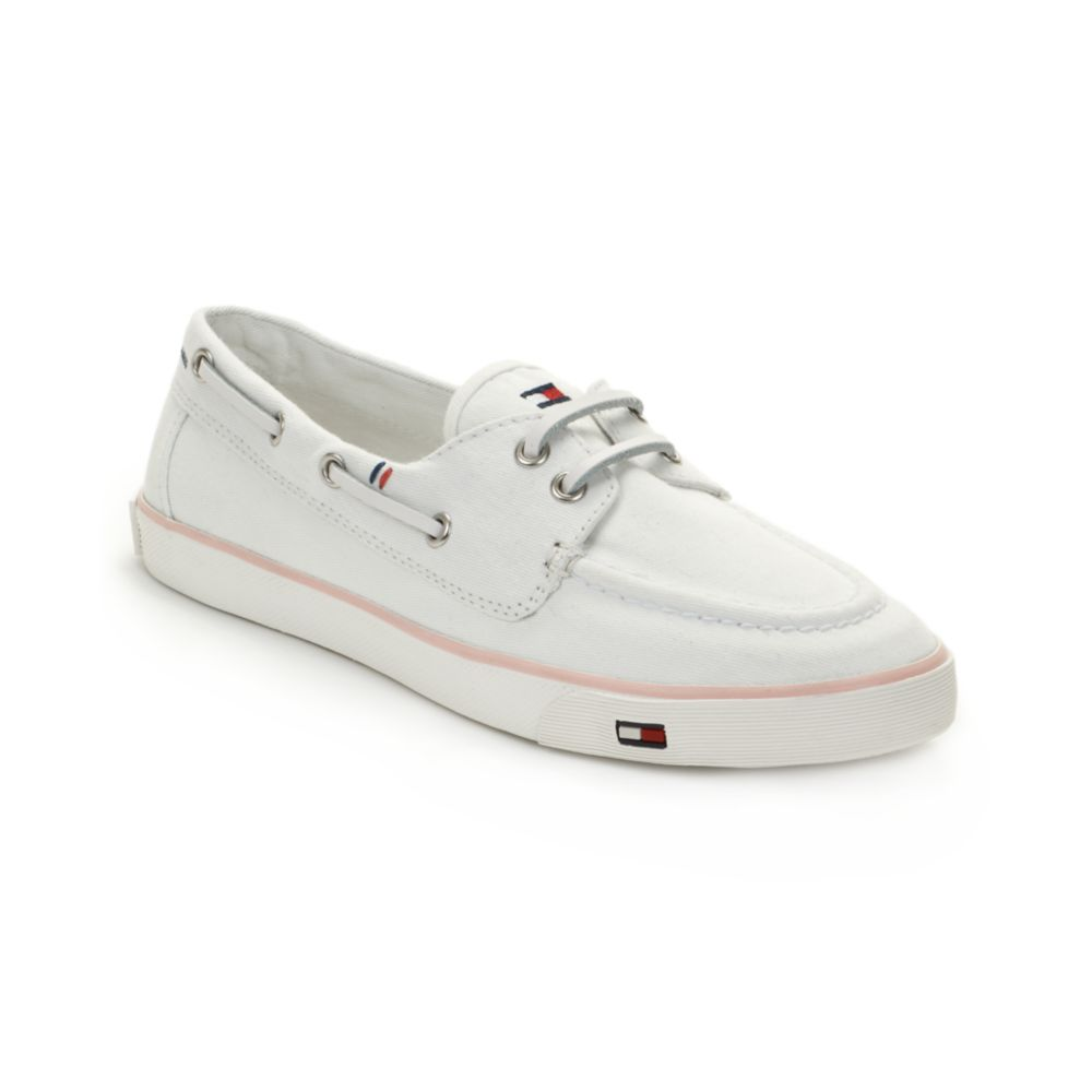 d8459d2bd Lyst - Tommy Hilfiger Carlton Boat Shoes in White