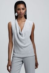 Eileen Fisher Sequined Knit Tank - Lyst