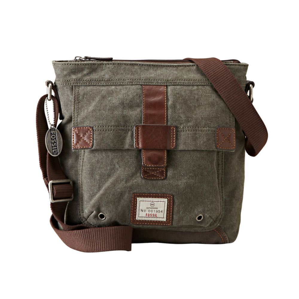 Lyst Fossil Trail City Bag In Gray For Men