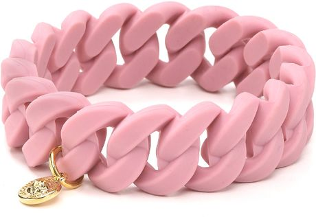 Marc By Marc Jacobs Rubber Turnlock Bracelet in Pink (colonial rose) - Lyst