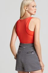 Marc By Marc Jacobs Tank Jordan Gauze Jersey in Orange (coral red multi) - Lyst