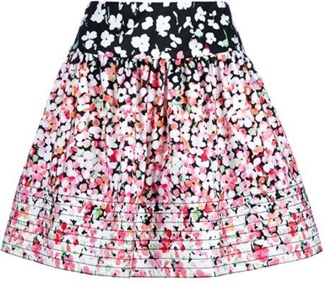 Red Valentino Floral Skirt in Black (floral)
