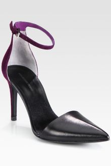Alexander Wang Lina Leather and Suede Pumps - Lyst