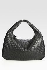 Bottega Veneta Veneta Woven Medium Hobo in Yellow (black) - Lyst