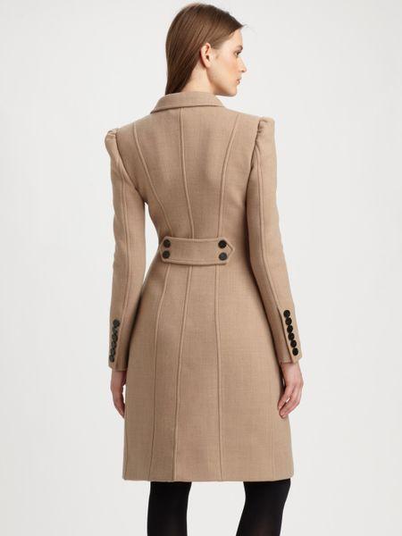 Burberry Prorsum Princess Coat In Beige Black Lyst