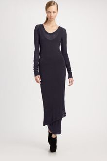 Donna Karan New York Melange Wool Jersey Dress - Lyst