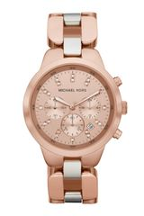 Michael Kors Midsize Showstopper Chronograph Watch Rose Golden - Lyst