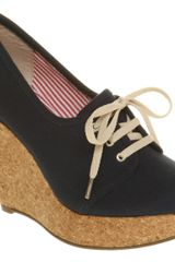 Office West End Wedge Denim Canvas - Lyst