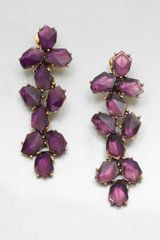 Oscar de la Renta Stone Embellished Long Drop Clipon Earrings - Lyst