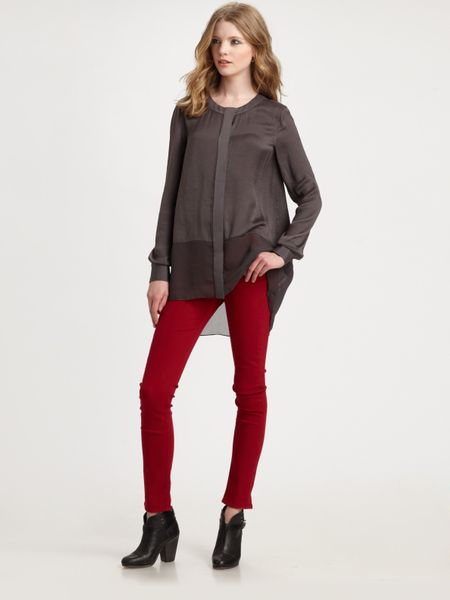 Rag & Bone Camila Shirt in Gray (grey) - Lyst