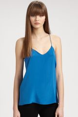 Tibi Essential Racerback Camisole in Blue (imperialblue) - Lyst