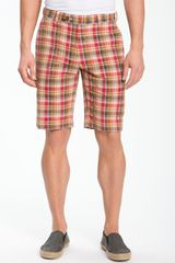 Brooks Brothers Slim Madras Bermuda Short - Lyst
