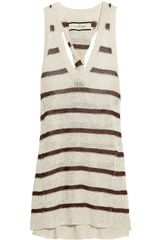 By Malene Birger Svetlana Striped Linenblend Tank - Lyst