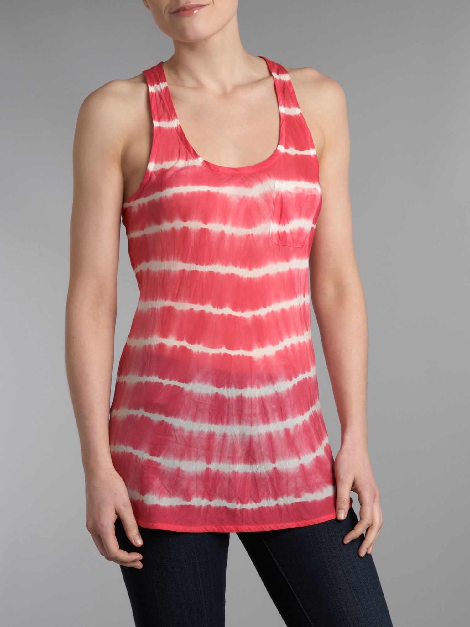 Lyst denim supply ralph lauren sleeveless tie dye vest for Tie dye sleeveless shirts