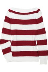 Jil Sander Striped Cotton and Cashmereblend Knitted Sweater - Lyst