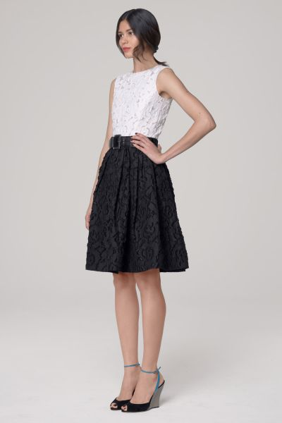 Oscar De La Renta Sleeveless Organza Dress in Black - Lyst