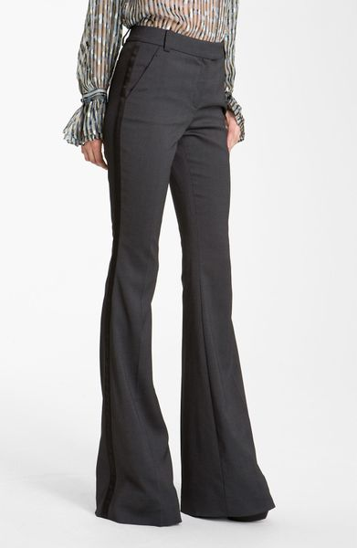 Rachel Zoe Hutton Flare Leg Pants in Gray (gunmetal) - Lyst