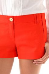 Tory Burch Shearer Shorts in Orange - Lyst