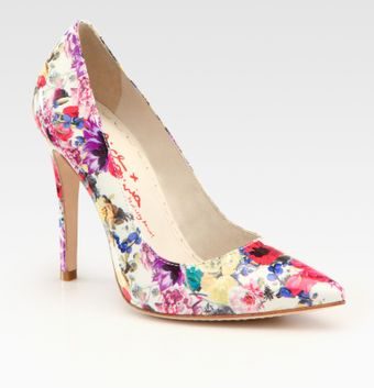 Alice + Olivia Devon Floral Printed Patent Leather Pumps - Lyst
