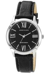 Anne Klein Womens Black Crinkled Patent Leather Strap 36mm 10 - Lyst