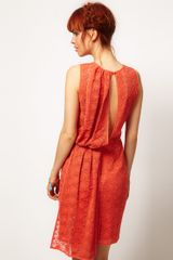 Asos Salon Pencil Lace Dress with Drape Back