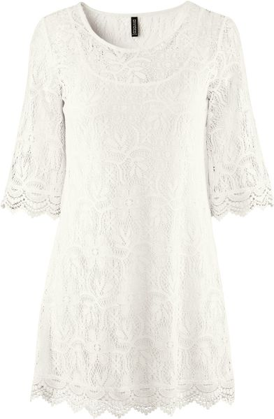 H&m Dress in White - Lyst
