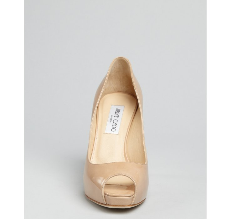 Louis Vuitton Nude Patent Leather Oh Really! Peep Toe