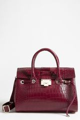 Jimmy Choo Rosalie Leather Satchel - Lyst