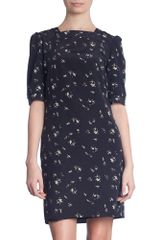 Marni People Print Short Sleeve Dress in Black - Lyst