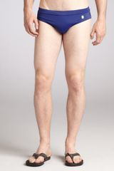 McQ by Alexander McQueen Royal Blue Nylon Blend Brief - Lyst