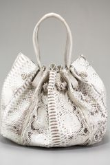 Nancy Gonzalez Gathered Python Shoulder Bag - Lyst