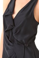 Parker Wrap Dress in Black - Lyst
