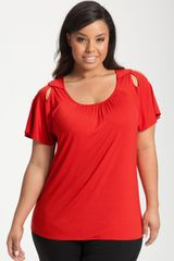 Sejour Peeking Shoulder Top - Lyst