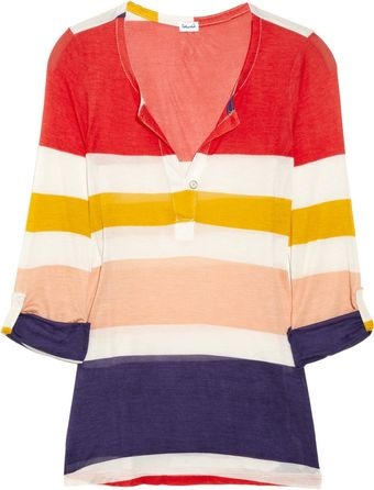Splendid Striped Jersey Top - Lyst
