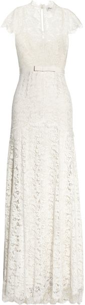 Temperley London Floral Lace and Silk Gown - Lyst
