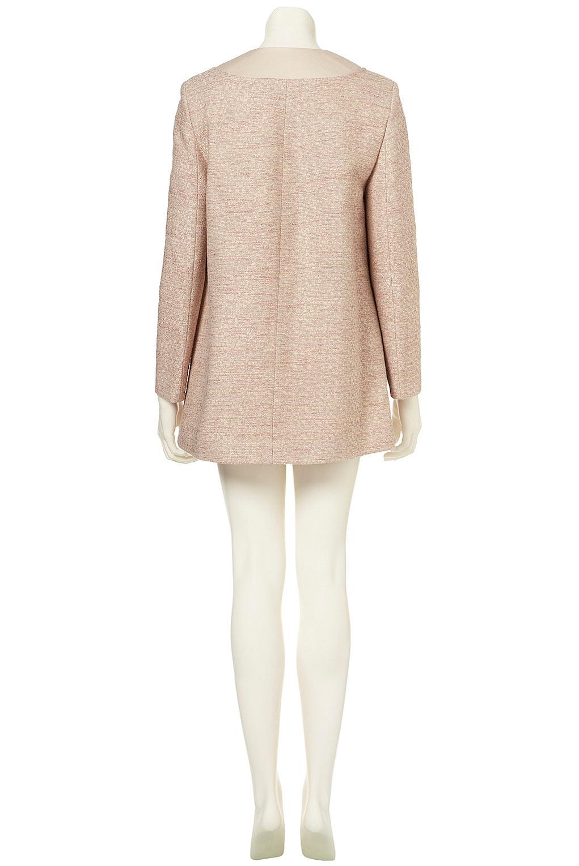 Topshop Lightweight Tweed Swing Coat in Pink | Lyst