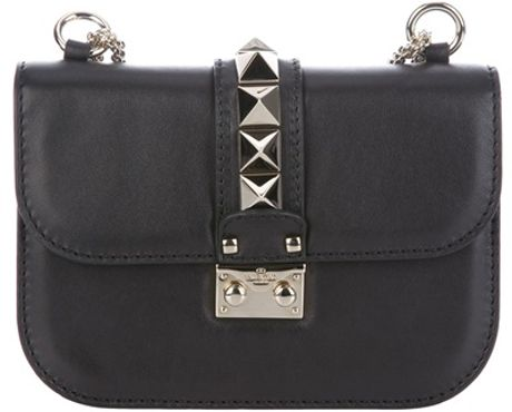 Valentino Studded Shoulder Bag in Black - Lyst