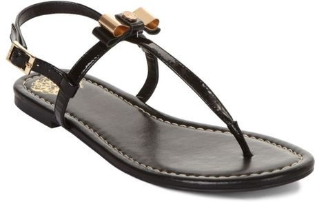 Vince Camuto Malinda Flat Thong Sandals in Black - Lyst