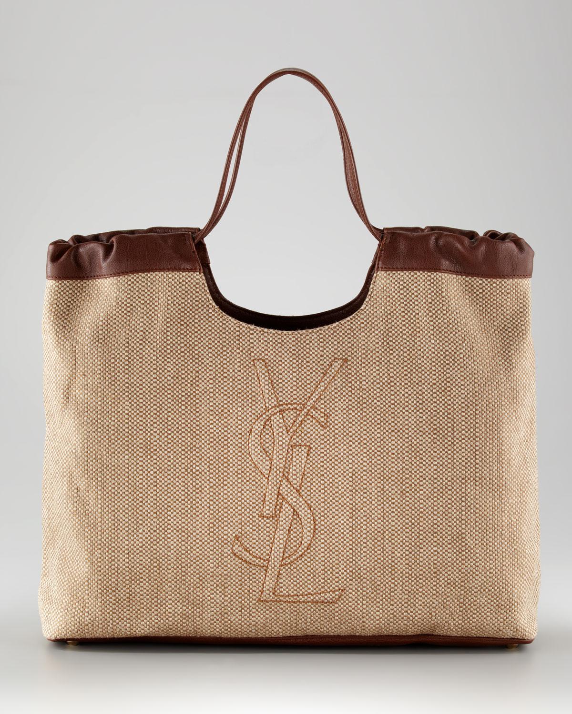 430be29d2c9e Lyst - Saint Laurent Belle Du Jour Large Shopper in Natural