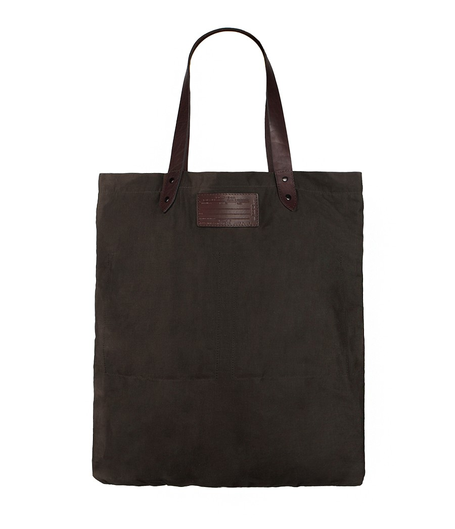 Allsaints Cane Canvas Tote Bag In Black For Men Putty Lyst
