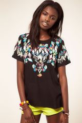 ASOS Collection Asos Tshirt with Mirror Embellishment and Embroidery - Lyst