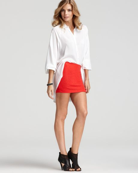 High Low Shirts Shirt Cutout High Low in