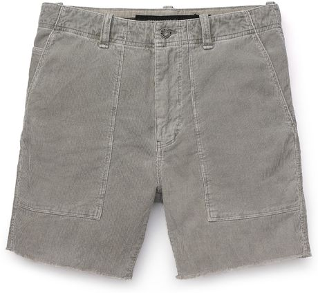 Converse Black Canvas Beach Cord Shorts in Gray for Men (drizzle) - Lyst