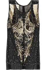 Emanuel Ungaro Sequin and Chainembellished Mesh Top - Lyst