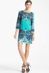 Emilio Pucci Print Jersey Shift Dress - Lyst
