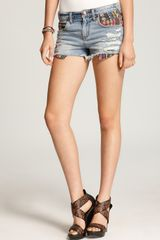 Free People Denim Shorts Baja Ripped - Lyst